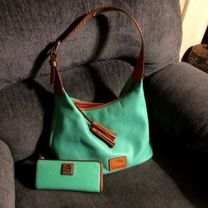 Dooney and Bourke Caribbean Green purse and wallet